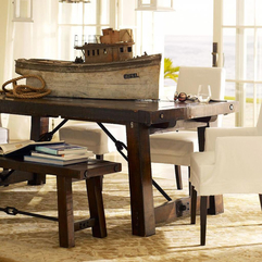 Creative Modern Rustic Furniture Dining Room With Wooden Ship - Karbonix