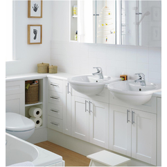 Creative Unique Wastafel Furniture White Bathroom Interior Design - Karbonix