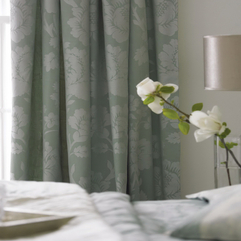 Damask Picture Curtains - Karbonix