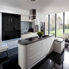 Dark Floors And Window Glass Kitchens - Karbonix