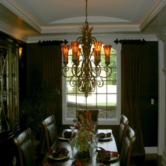 Decorating Exciting Dining Room Window Treatment Ideas With Green - Karbonix