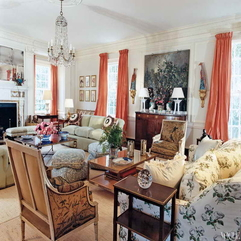 Decorating Ideas Traditional With Orange Curtains Living Room - Karbonix