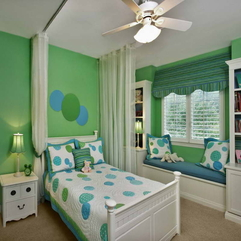 Decorating Ideas With Green Walls Kid Bedroom - Karbonix