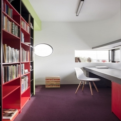 Decoration Minimalist Home Office Colors Ideas With Colorful Book - Karbonix