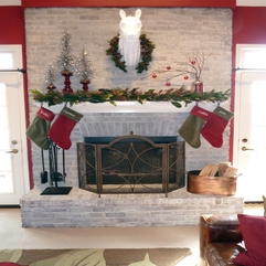 Decorations Entrancing White Christmas Fireplace Mantel - Karbonix