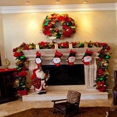 Decorations Santa Figure With Charming Mantel Decor And Adorable - Karbonix