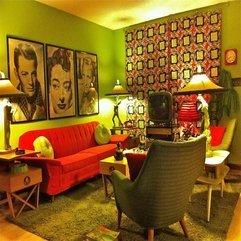 Design In The Living Room Retro Interior - Karbonix