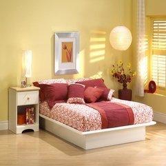 Design With Pure White Finish Platform Bed Frame Modern Bedroom - Karbonix