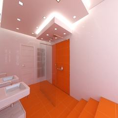 Design With White Bathroom Wall Bathroom Vanity Orange Bathroom - Karbonix
