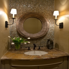 Designs To Share Powder Room Bathroom Traditional Powder Room - Karbonix