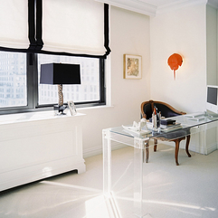 Desk Design Idea Lucite Office - Karbonix
