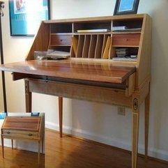 Desk With Simple Design Ikea Secretary - Karbonix