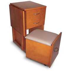 Desks Chair With Two Drawers Space Saver - Karbonix