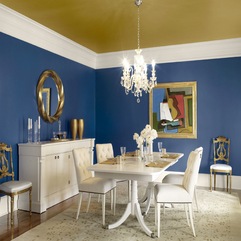 Dining Room Category Creative Blue Dining Room Painted Ceiling - Karbonix