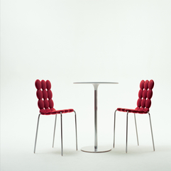 Dining Room Cool And Cute Red Two Contemporary Dining Chairs With - Karbonix