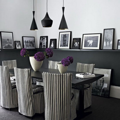 Dining Room Fancy Black And White Dining Room Chairs Inspiration - Karbonix
