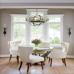 Dining Room Ideas With Globe Design Lighting - Karbonix