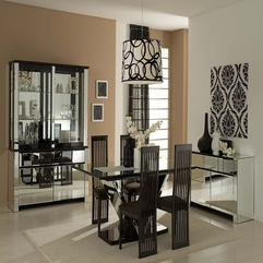 Dining Room Inspiration With Black Furniture And Glass Table - Karbonix