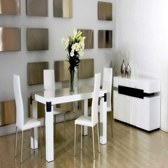 Dining Room Modern White Classic Dining Table With Chairs And - Karbonix