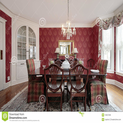 Dining Room With Red Walls Royalty Free Stock Images Image 12627209 - Karbonix