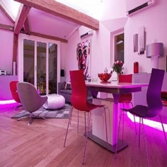 Display Beautiful Home Interior Design With Pink Living Room Theme - Karbonix