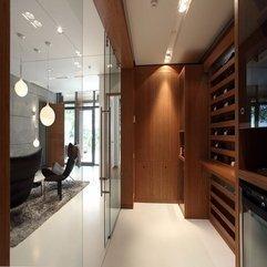 Door With Wooden Shelf View For Wine Storage Glazed - Karbonix