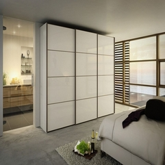 Doors White Wardrobe Fancy Sliding - Karbonix