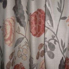 Draperies Floral Fabric - Karbonix
