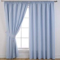 Drapes Blue Design Living Room - Karbonix