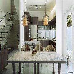 Elegant Contemporary Dining Room Unique Monochromatic Dining - Karbonix