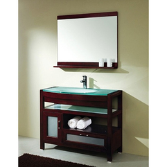 Element Solid Wood Bathroom Vanity Set Design - Karbonix