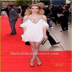 Emma Roberts Gorgeous Beaded Mini Dress Movie 4 3 2 1 Premiere Red - Karbonix