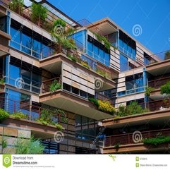 Environmentally Friendly Apartment Building Royalty Free Stock - Karbonix