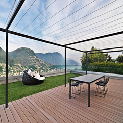 Equipped With Black Chairs Table Overlooking Mountaview Terrace Residence - Karbonix