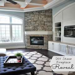 Best Inspirations : Evolution Of Style DIY Stone Fireplace Reveal For Real - Karbonix