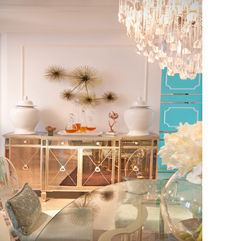 Exclusive Luxurious Dining Room Idea Mirrored Chest Of Drawers - Karbonix