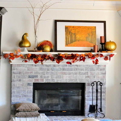 Fall Decorating At Home With Fireplace Ideas - Karbonix