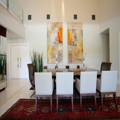 Fantastic Concept For Natural Dining Room With Artistic Painting - Karbonix
