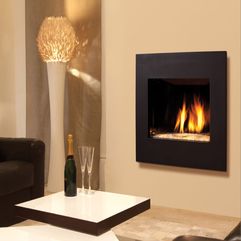 Fireplace Comely Living Room Decoration With Rectangular Black - Karbonix