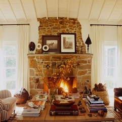 Fireplace For Reading Room Natural Stone - Karbonix