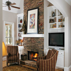 Fireplace Ideas For Living Room Traditional Stone - Karbonix