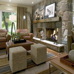 Fireplace Living Room Traditional Stone - Karbonix