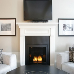 Fireplace Room Idea Furniture With Shades Of Black And White - Karbonix