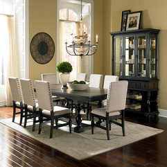 Furniture Interesting Dining Room Design Ideas With White Fabric - Karbonix