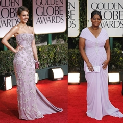 Golden Globes 2012 Actresses Flaunt Strikingly Similarly Colored - Karbonix