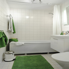 Green And White Are Blend In The Bathroom Part Of Apartments - Karbonix