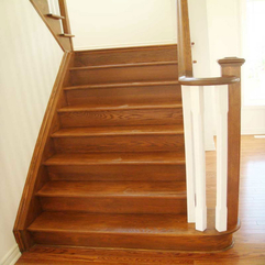 Hardwood Staircase Design Simple Wood - Karbonix