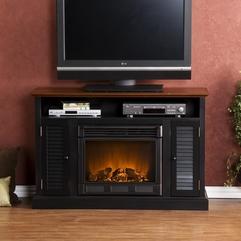 Holly Amp Martin Savannah Media Electric Fireplace Black And Walnut - Karbonix