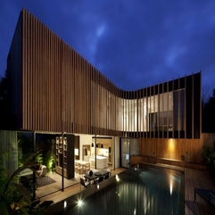 Home Equipped With Wooden Domination In Modern Style - Karbonix