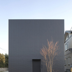 House Cool Black Wall Cube Exterior Design The Ant - Karbonix